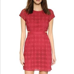 Madewell Red Eyelet Happening Cutout Dress - 4